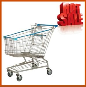 100L American Supermarket Shopping Cart with Good Quality