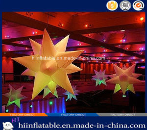 Colorful Wedding, Event LED Lighting Ceiling Decoration Inflatable Star 028