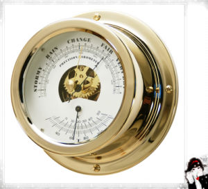 Yacht Barometer and Thermometer Brass Case 150mm pictures & photos