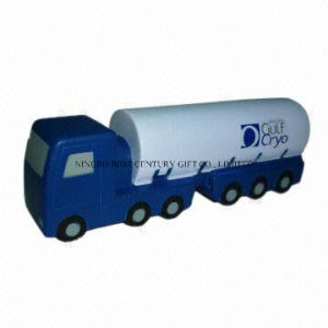 Tanker Shape PU Foam Promotional Toy Stress Ball