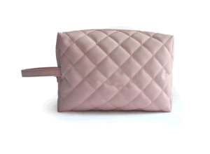Polyester with Quilt Cosmetic Bag