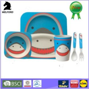 High Quality Bamboo Fiber Children Cutlery Sets pictures & photos