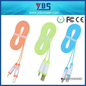 Colorful Micro USB Cable Mobile Phone Data Cable for iPhone Samsung HTC Xiaomi pictures & photos