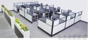 High Efficiency Office Partitioning Cubicle Cluster (FOH-SS40-1414L) pictures & photos
