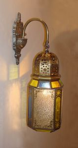 19024 Copper Wall Lamp with Crystal/Glass Decorative pictures & photos
