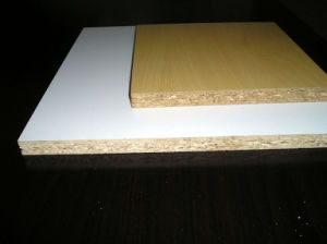 White Melamine Wood Grain Melamine Particle Board for Furniture pictures & photos