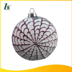 2016 Hot Sale Hand-Painted Christmas Flat Ball Decoration pictures & photos
