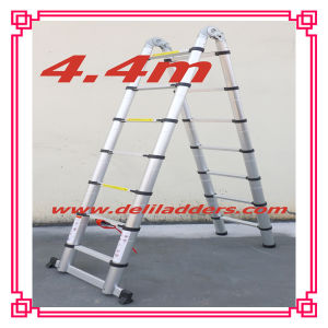 Combination Aluminum Ladder /Telescopic Ladder with Hinge 4.4m pictures & photos