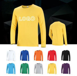 Custom T Shirt with Long Sleeve in Various Colors, Sizes, Materials and Designs pictures & photos