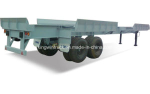 China Cimc Brand Flat Type Container Semi Trailer pictures & photos