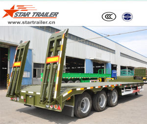3 Axles Construction Carrier Low Bed Semi-Trailer pictures & photos
