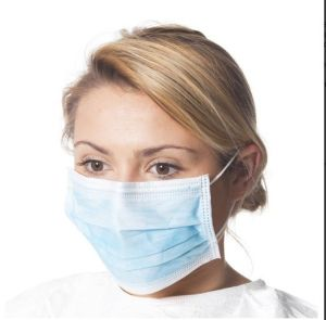 Earlooped Non Woven Disposable Surgical Pleated Face Mask pictures & photos