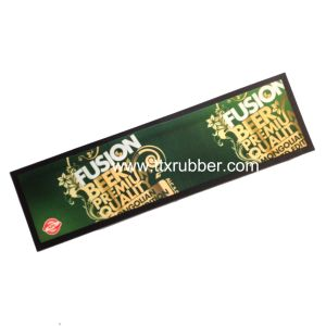 Cmyk Full Color Printed Customized Logo Rubber Bar Counter Mat pictures & photos