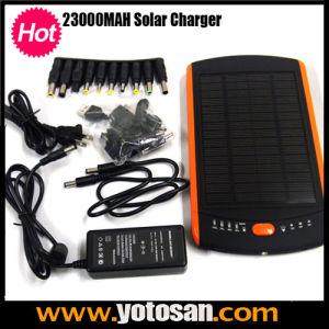 23000mAh USB External Rechargeable Portable Power Solar Laptop Charger