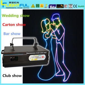 RGB 3W Laser Lighting Wedding Show
