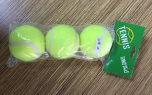 3PCS Plastic Bag Packing Yellow Tennis Traing Ball pictures & photos
