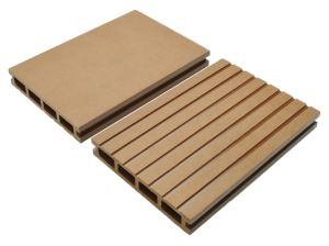 150*25mm Jiangsu Outdoor Hollow Wood Plastic Composite Decking pictures & photos