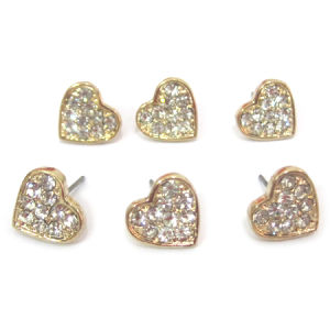 Fashion Jewelry Gold Plated Crystal Stud Earring, Clay Cristal, Cute and Lovely, Her-11197