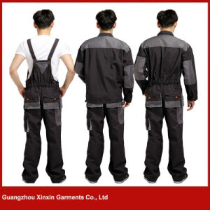 Factory Wholesale Cheap Cotton Polyester Working Bib Pants for Men (W257) pictures & photos