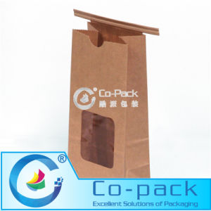 Side Gusset Paper Packaging Bag with Tin-Tie & Valve pictures & photos