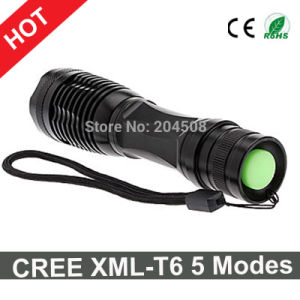 Hot Sale CREE Xml-T6 Flashlight 5 Modes Zoomable LED Light Torch pictures & photos
