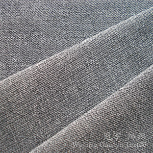 Cutted Pile Small Grid Polyester and Nylon Corduroy Fabric pictures & photos