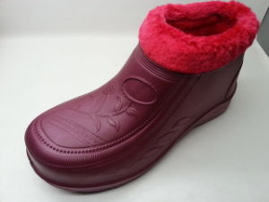 Warm Snow Indoor Rain Shoes Boots with Fur (21fv1108) pictures & photos