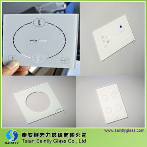 4mm High Quality White Printing Tempered Switch panel Glass pictures & photos