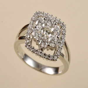 Gold Diamond Wedding Ring (9162)