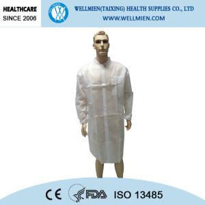 PP Disposable Surgical Gown/Nonwoven Disposable Lab Coat pictures & photos