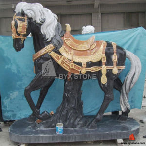 Marble Carving Horse Animal Sculpture for Garden Decoration pictures & photos