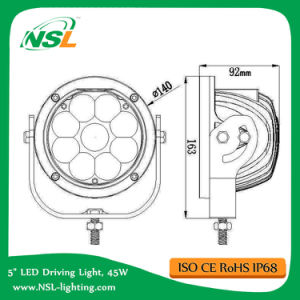 5.5inch Round 9PCS X 5W CREE LED 4000lm Spot Flood 45W CREE LED Driving Work Light, Auto 4X4 Jeep SUV Boat Truck Offroad Fog Head Light 12V24V pictures & photos
