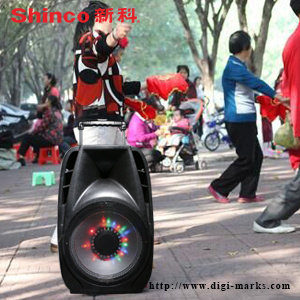 Hot Sale Karaoke Portable Plastic Active Speaker with Bluetooth, FM pictures & photos