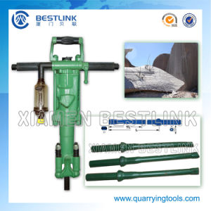 Using Air Compressor Jack Hammer for Quarrying Granite pictures & photos