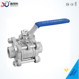 Stainless Steel Factory 3PC Sw Ball Valve with Blow-out Proof Stem pictures & photos