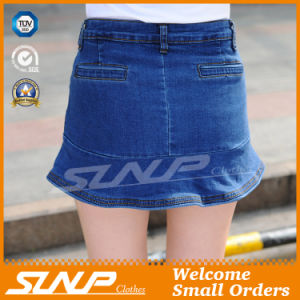 High Waisted Women Jean Cotton Shorts
