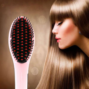 Cerami Plate Type Brush LCD Hair Straighteners pictures & photos