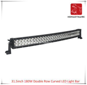 LED Car Light of 31.5inch 180W Double Row Curved LED Light Bar Waterproof for SUV Car LED off Road Light and LED Driving Light pictures & photos