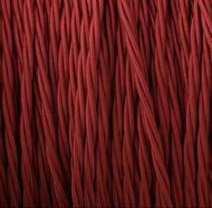Deep Red 3 Conductor Twisted Wire, Lamp Wire pictures & photos