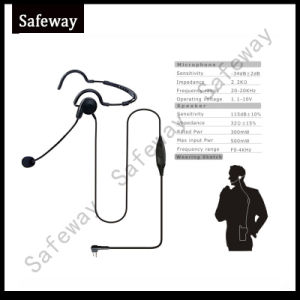 Walkie Talkie Boom Mic Headphone Headset for Motorola Gp300 pictures & photos