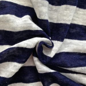 Linen Knitted Stripe Fabric (QF14-1547) pictures & photos
