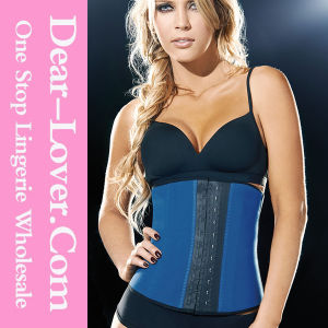 Hot Sale Steel Bones Latex Waist Training Underbust Corset pictures & photos