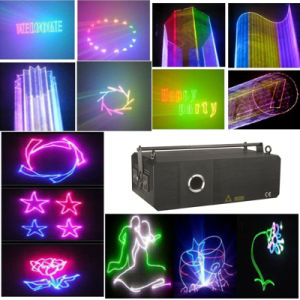 RGB 2W Animation Laser Light with Pattern (YS-918) pictures & photos