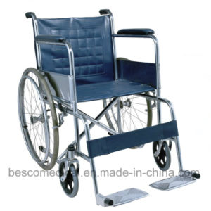 Folding Chrome Plated Steel Manual Wheelchair (BES-WL001A)