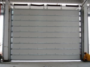 Sectional Industrial Garage Door, Galvanized Steel Sheet, PU Foam, 50mm Thickness pictures & photos