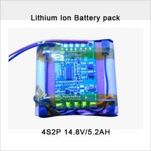 Rechargeable 14.8V 5.2ah Lithium-Ion Battery Pack pictures & photos