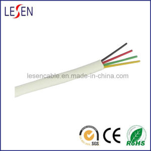4cores Flat Telephone Cable with CE/RoHS Certificate pictures & photos