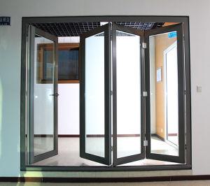 china energy efficient bi fold aluminum exterior glass door china aluminum folding door. Black Bedroom Furniture Sets. Home Design Ideas