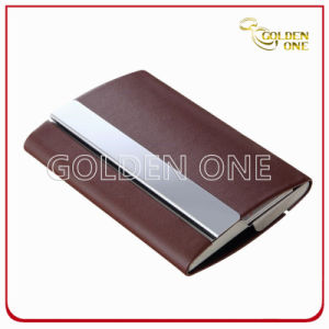 Custom Popular Style PU Leather Name Card Case pictures & photos