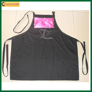 High Quality Adjustable Button Red Cotton Apron (TP-0B023) pictures & photos